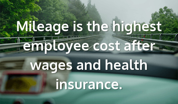 Mileage is the highest employee cost after wages and health insurance