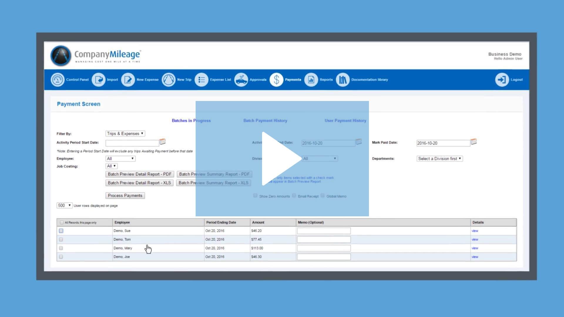 Mileage Reimbursement Software for Mobile Workforce   CompanyMileage